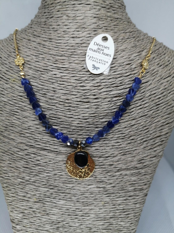 Collier doré lapis-lazuli