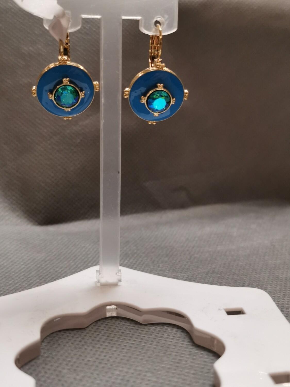 Boucles d'oreilles bleuté
