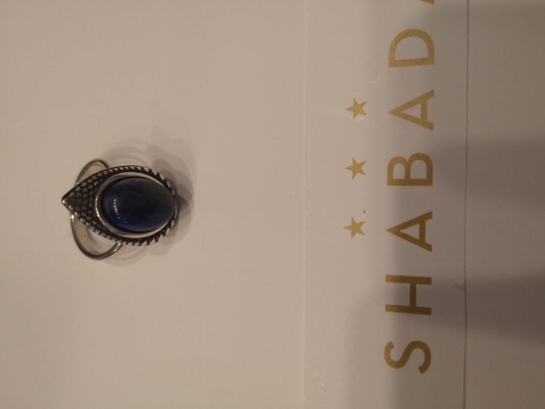 Bague argent réglable lapis-lazuli