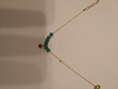 Bracelet acier étoile turquoise