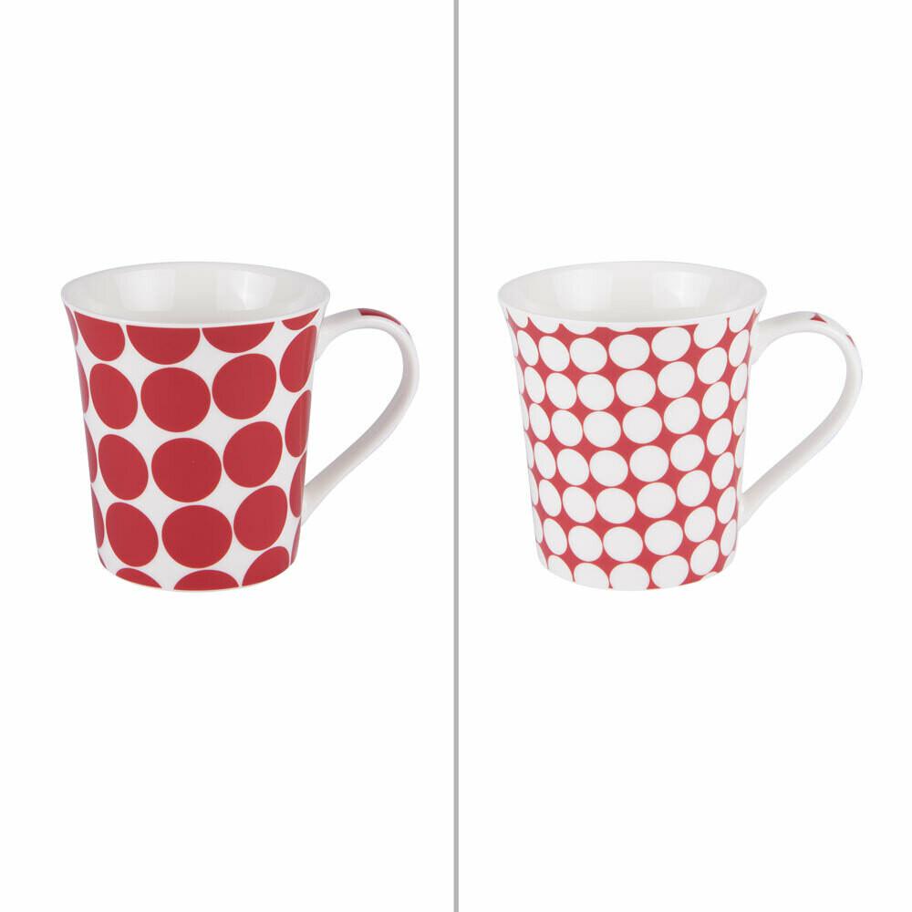 mug rouge pois 35cl