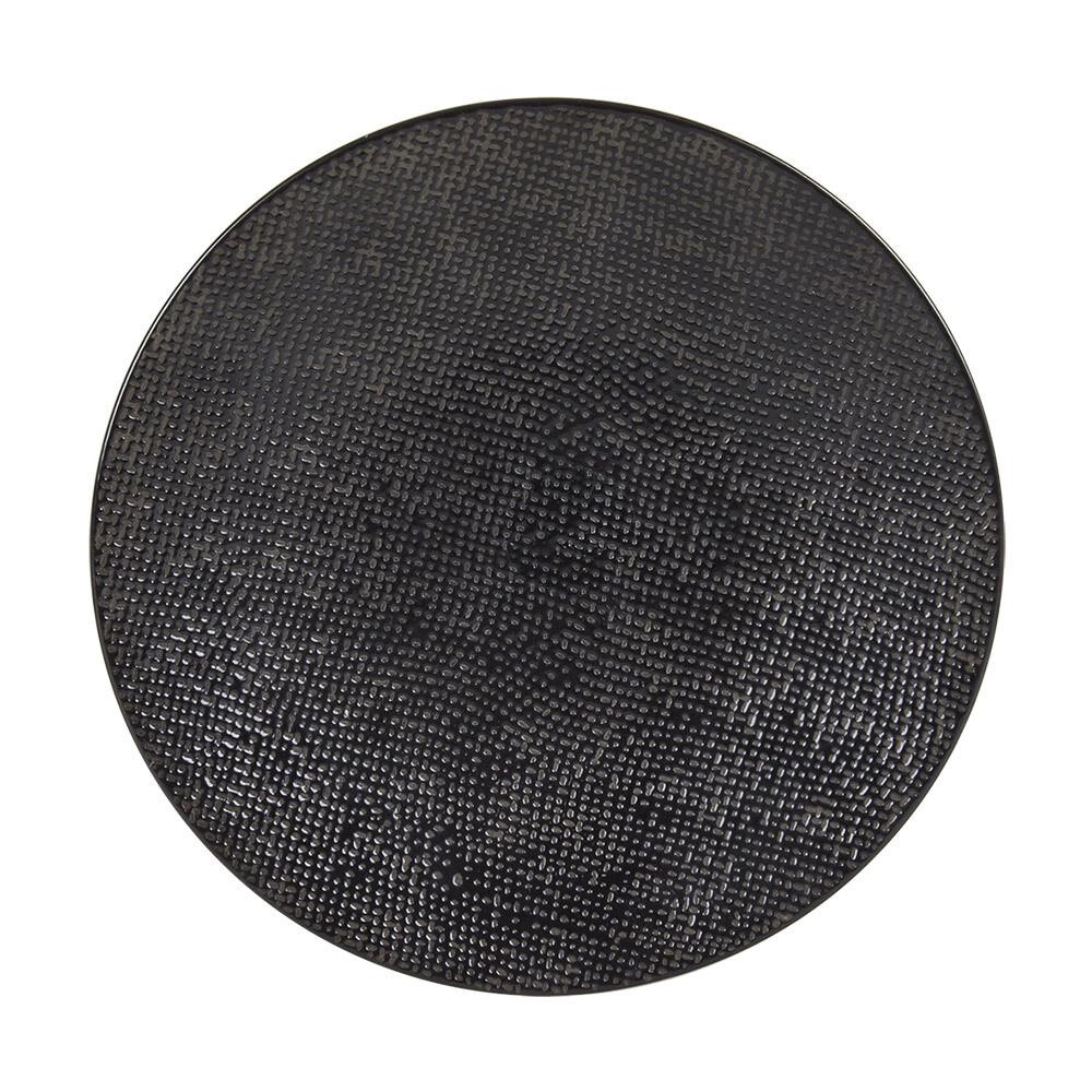 6 Assiettes Vesuvio noir à dessert 20.5cm