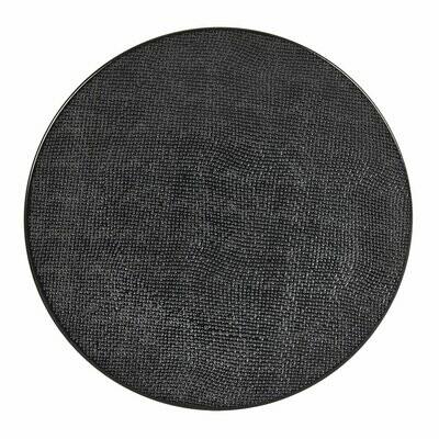 6 Assiettes Vésuvio noire 27cm