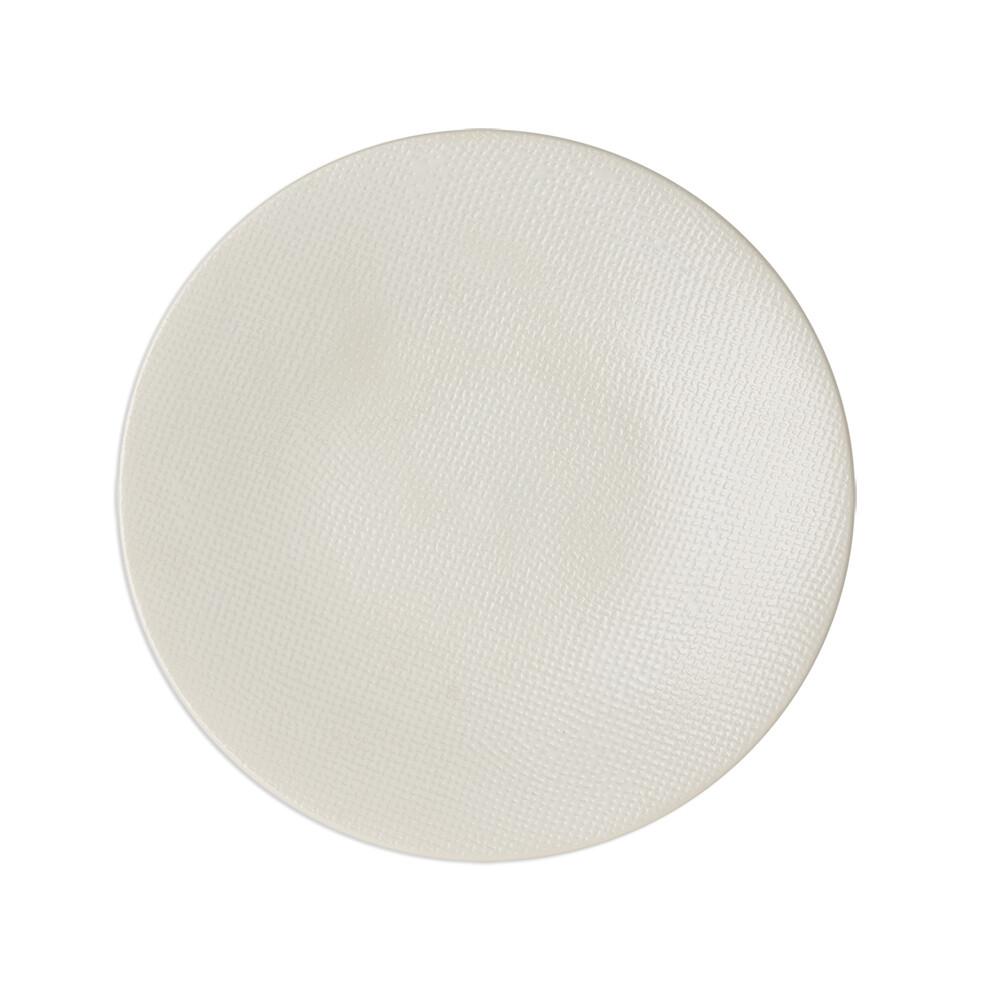 6 Assiettes Vesuvio plate blanche 27cm