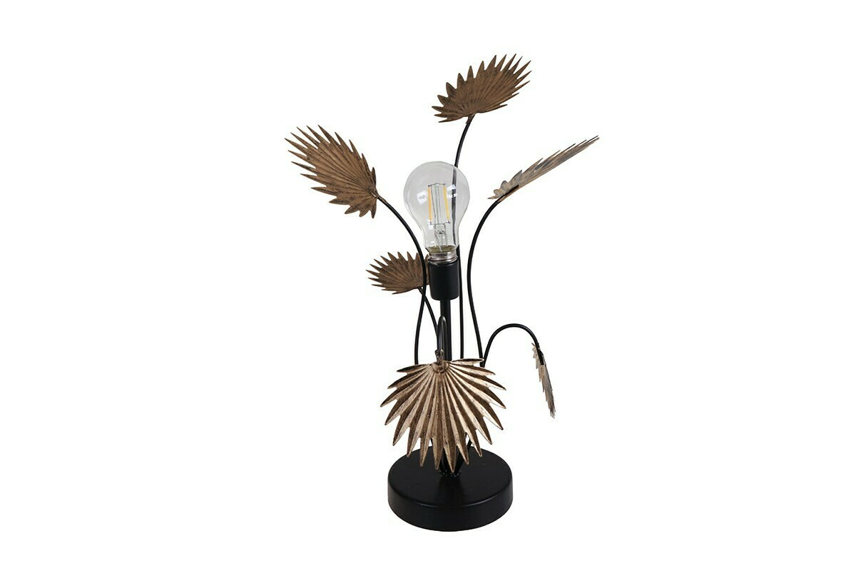 Lampe nomade feuilles montera or 24x21x43