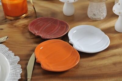 6 Coupelles plates citrouille