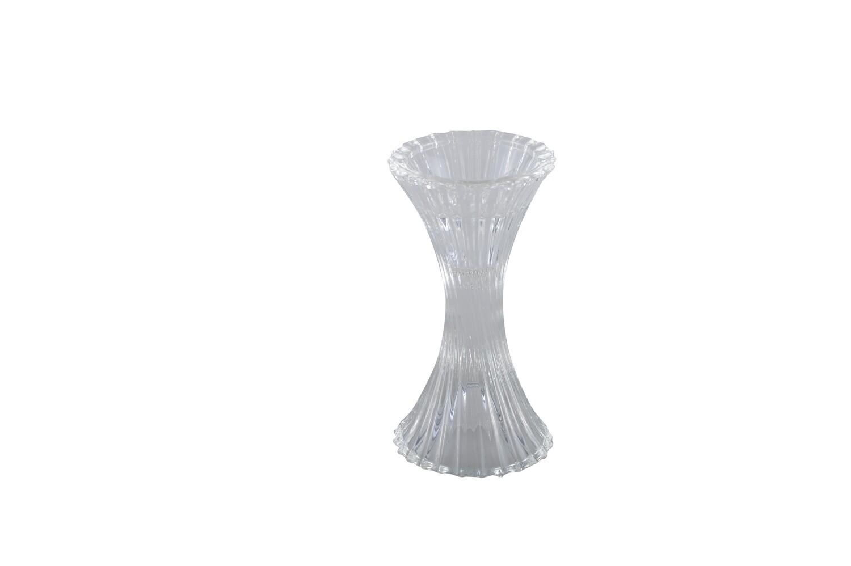 Bougeoir en verre H13cm