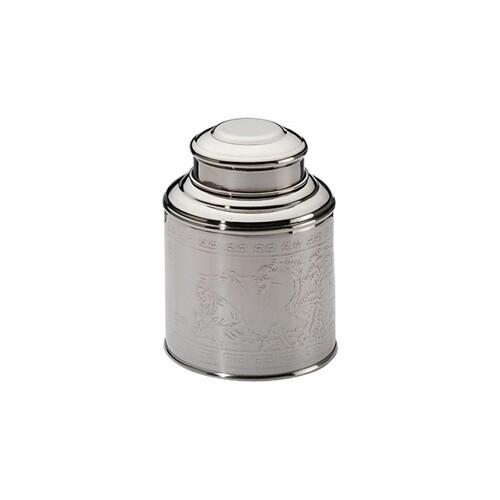 Boîte à thé 100g Argent domed lid