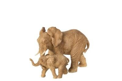 ELEPHANT + ENFANT RESINE