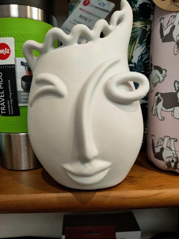 Vase visage blanc PM