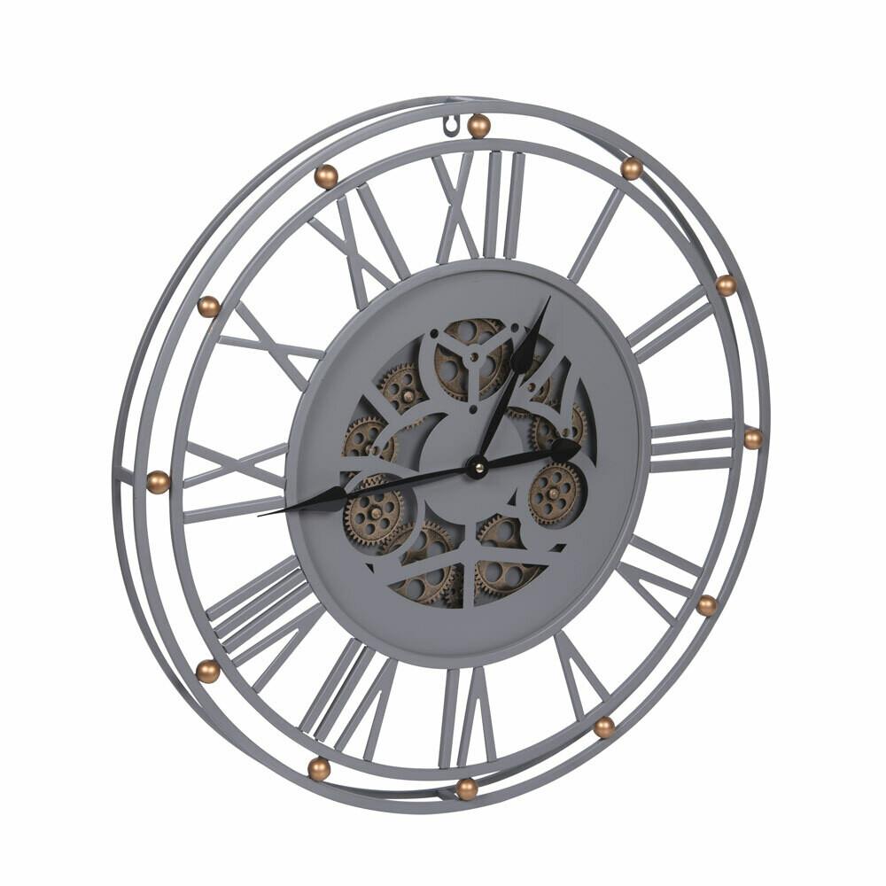 Horloge grise grand modèle 60 cm