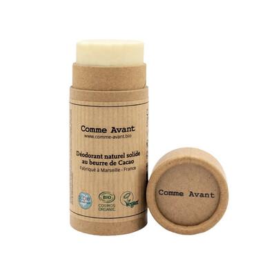 Déodorant naturel solide au beurre de cacao