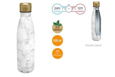 Bouteille Marbre Blanc 500ml