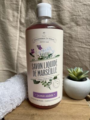 Savon liquide de Marseille Jasmin Violette 750ml
