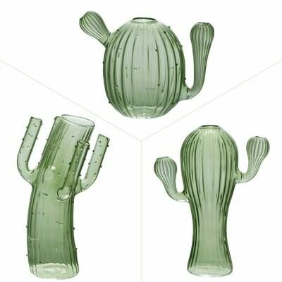 vases trio cactus vert