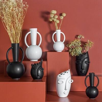 vase face noir ou blanc 22.2 cm