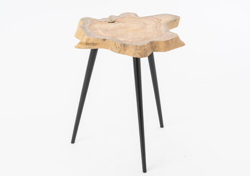 Table basse diam 40-50 coupe