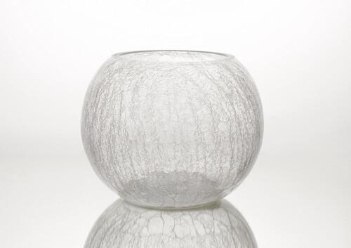 Vase boule craquèle D30 TR