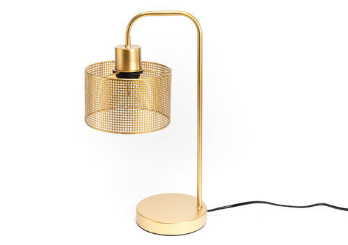 Lampe table néo dorée