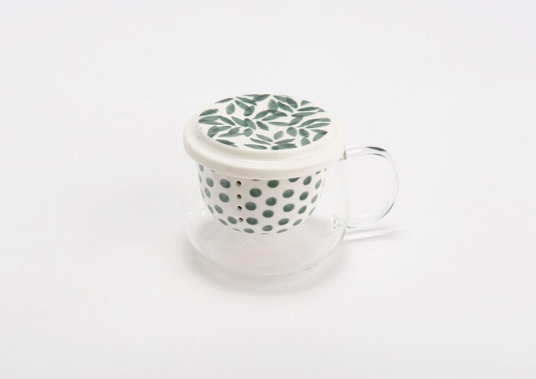 Coffret Mug filtre verre eucalypt