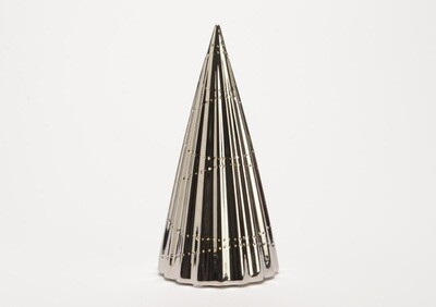 Lampe sapin argent pile GM