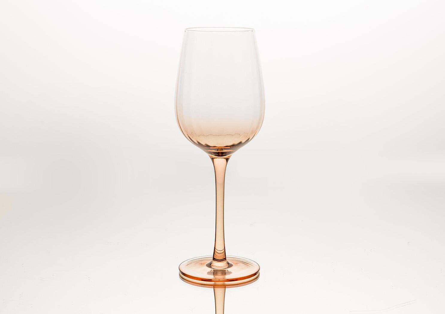 Verre à vin Léonie rose