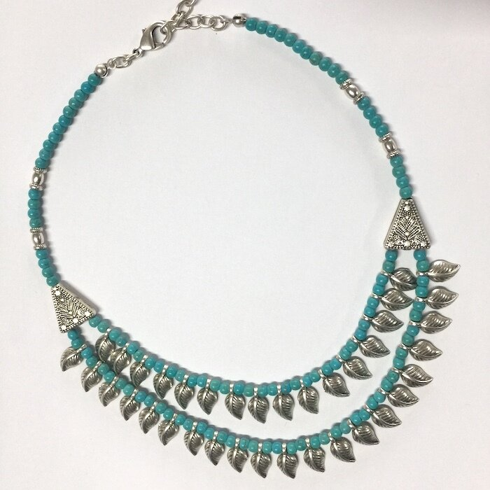 BN-823 red stone necklace