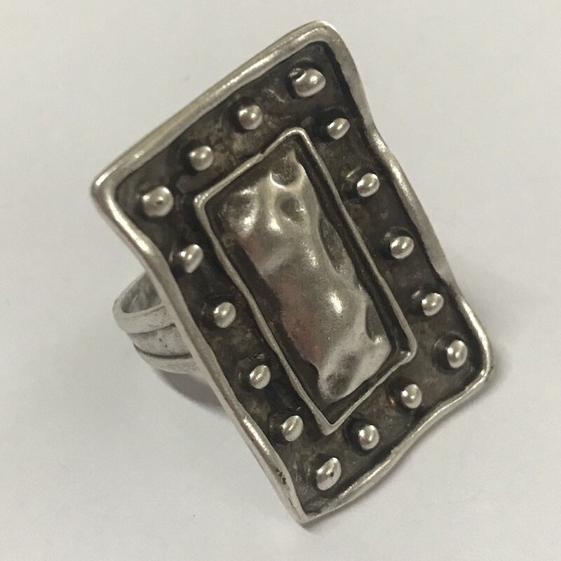 OTR-7 Silver plated ring