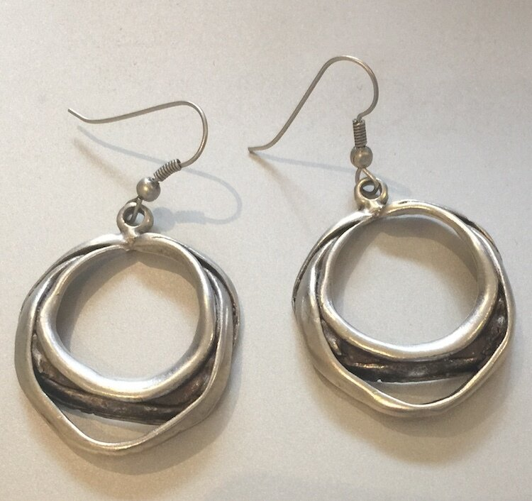 OTE-93 Silver plated earrings