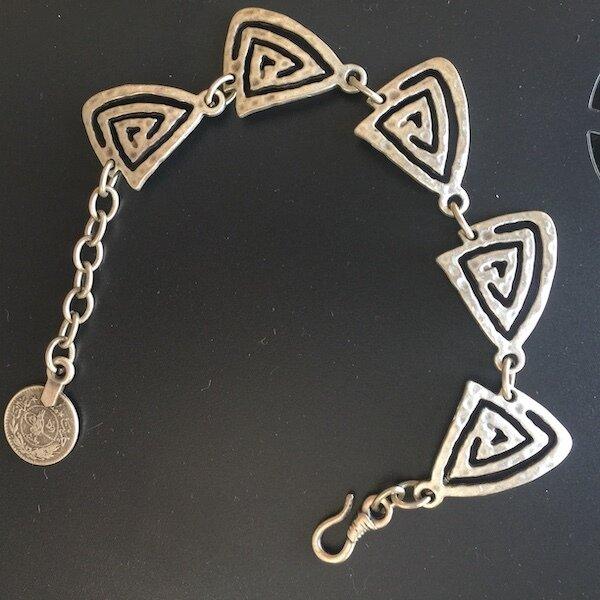 OTB-012 silver plated bracelet