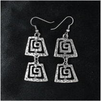 OTE-3207 - Silver plated earrings