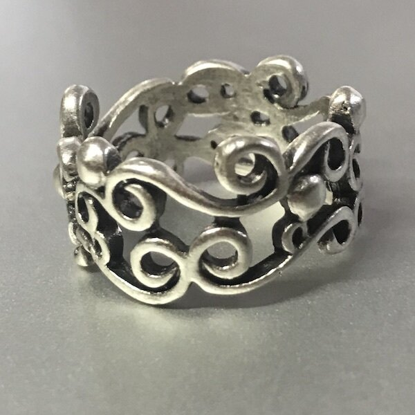 OTR-12 Silver plated ring