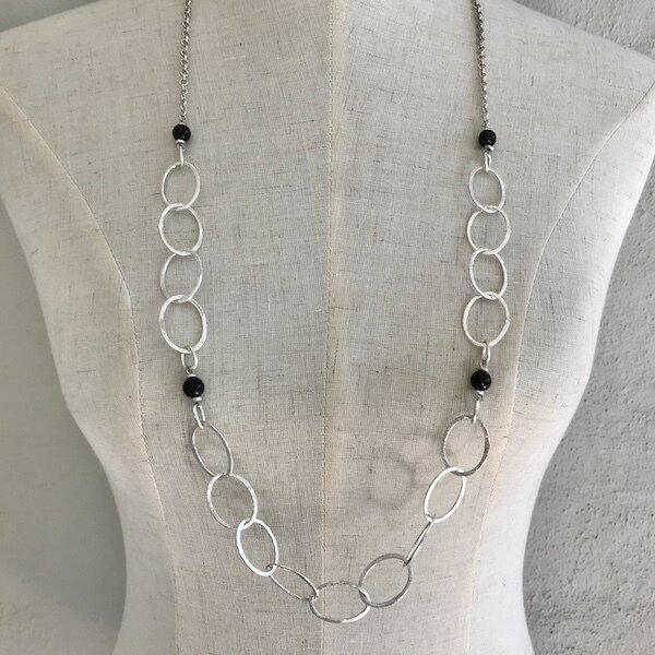 BN-1906 Silver plated necklace