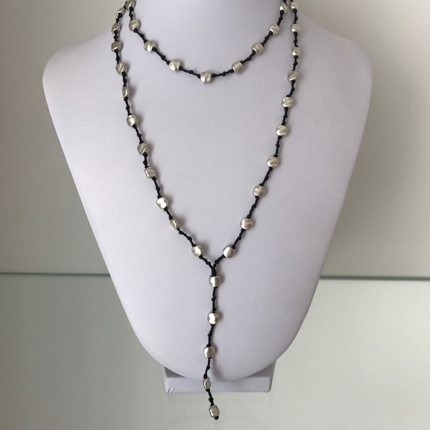 JD011BLK - Silver Plated Necklace