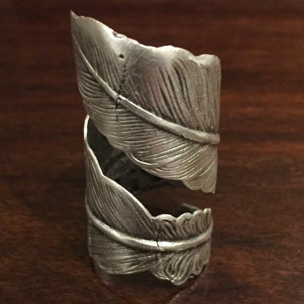 OTR-1302 - Silver plated ring