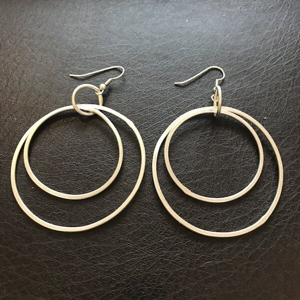 OTE-4138 Silver plated earrings