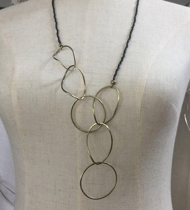 OTBNZ-1 Bronze & Silver necklace