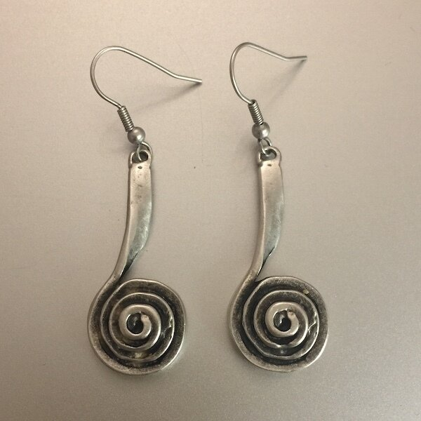 OTE-3454 - Silver plated earrings