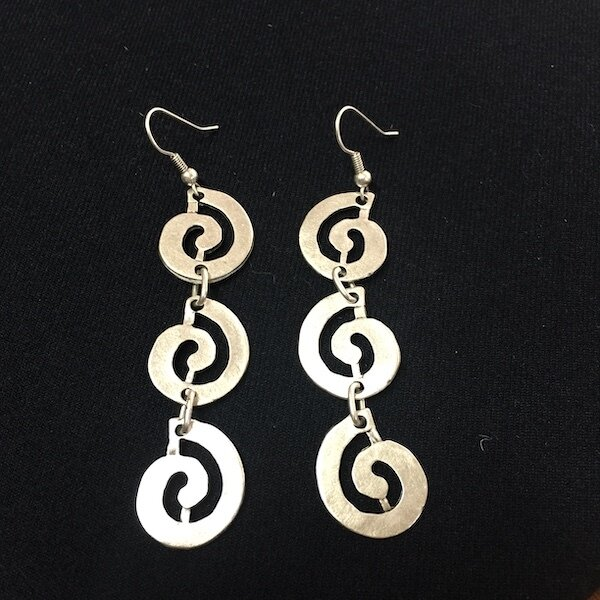 OTE-3196 - Silver plated earrings