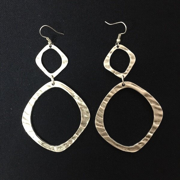 OTE-3099 - Silver plated earrings