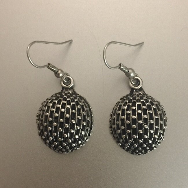 OTE-3068 - Silver plated earrings