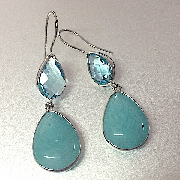 BE-828 turquoise silver