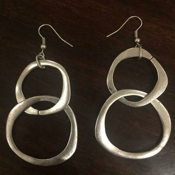 OTE-26 Silver plated earrings