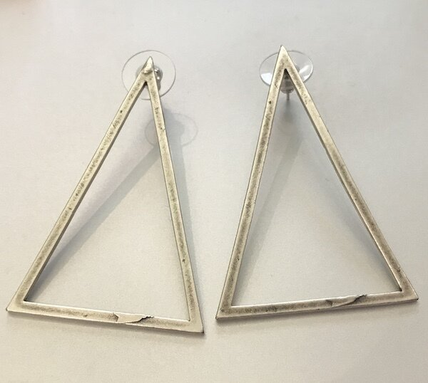 BE-1923 Silver plated earrings