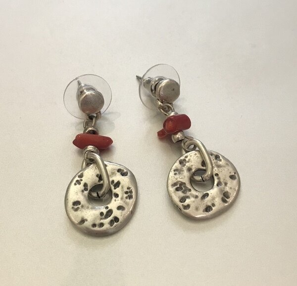 BE-1935 Silver plated earrings