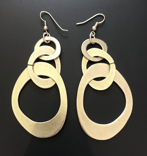 OTE-28 Silver plated earrings