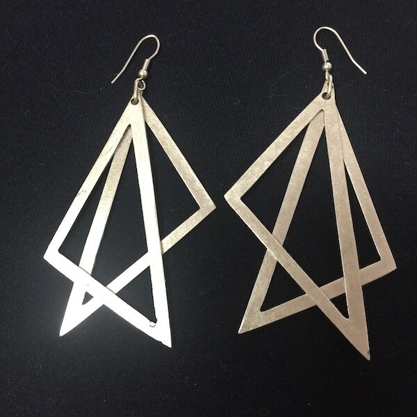 OTE-6 Silver plated earrings