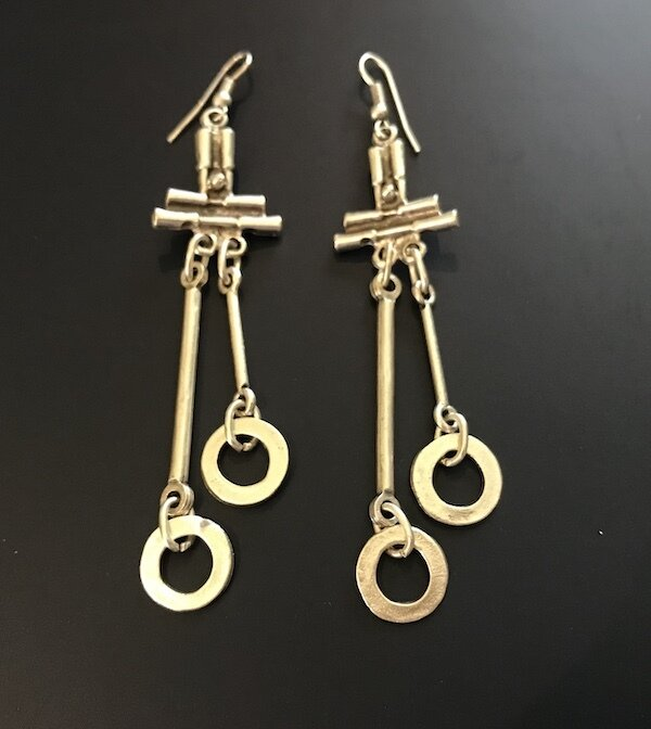 OTE-32 Silver plated earrings