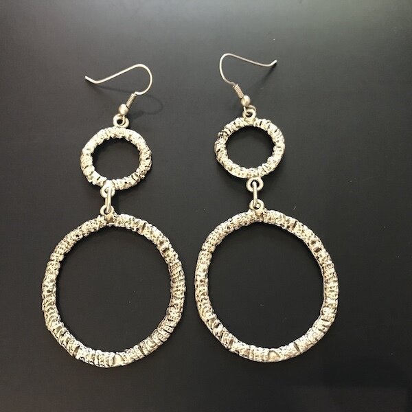 OTE-34 Silver plated earrings