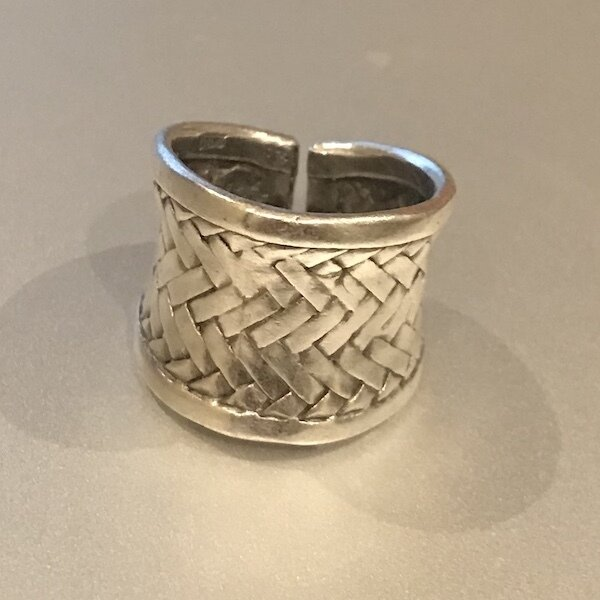 OTR-37 Silver plated ring
